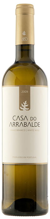 White wine bottle of Casa do Arrabalde 2009