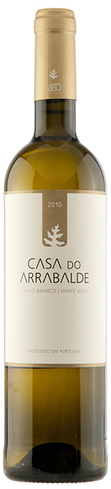 White wine bottle of Casa do Arrabalde 2010